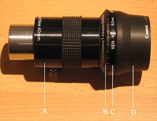 Astrofotografie mit digitalkamera digital camera astrophotography